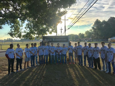 PT Baseball visits Birch Elementary students